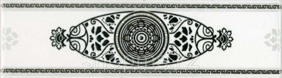 Керамическая плитка PiezaROSA Цезарь бордюр серый 272571 (25*7,1), фото 2