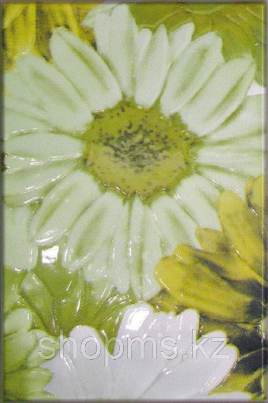 Керамическая плитка М-Квадрат Парадис декор зел. зеленая ромашка 341721 (25*40) *
