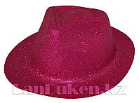 Шляпа карнавальная блестящая (розовая)