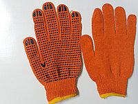 Перчатки рабочие х/б с ПВХ