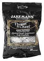 Jakemans, Леденцы от кашля и боли в горле Throat & Chest со вкусом аниса и эвкалипта, 30 леденцов.