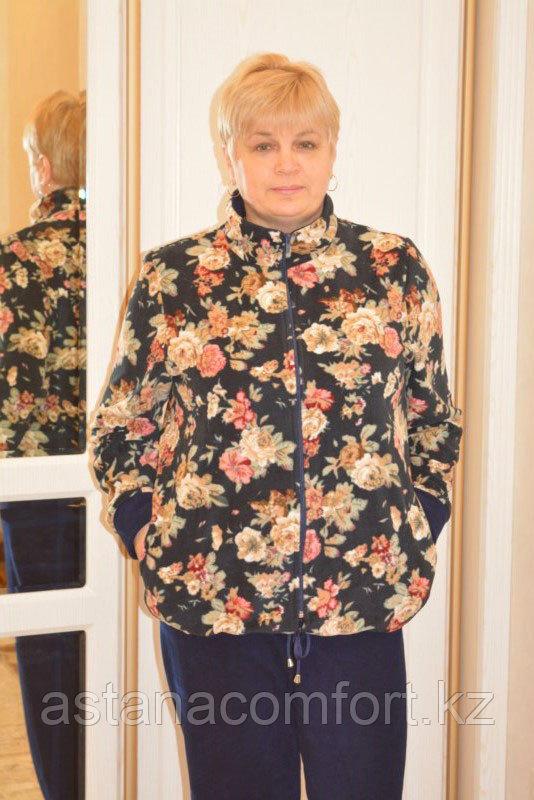 Спортивный женский флисовый костюм больших размеров
