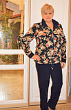 Спортивный женский флисовый костюм больших размеров, фото 2