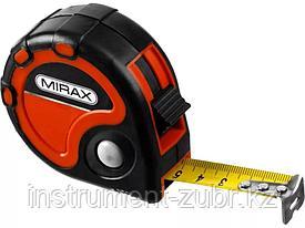 Рулетка MIRAX, 3 стопора, двухкомпонентный пластиковый корпус, 10мх25мм
