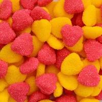 """Жев.мармелад """"Ягоды сердечки в обсыпке розово желтые йогуртовые"""" 1,6кг 250шт /FINI Испания/"""