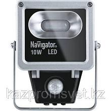 LED Прожектор 10w 4000K  Датчик IP65 (71 320) NAVIGATOR