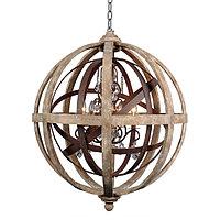 Люстра Antiqued Wood-Metal