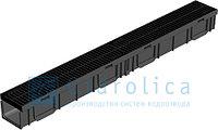 Канал с пластиковой решеткой, 1000*115*95 мм, Gidrolica