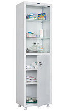Шкаф медицинский для медикаментов МД 1 1657/SG Размеры: 1720х570х320 мм