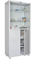 Медицинский шкаф для медикаментов MD 2 1780/SG Размеры: 1810х800х400 мм