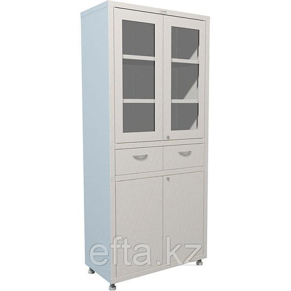 Медицинский шкаф для медикаментов с рамкой МД 2 1780 R-1 Размеры: 1810х800х400 мм