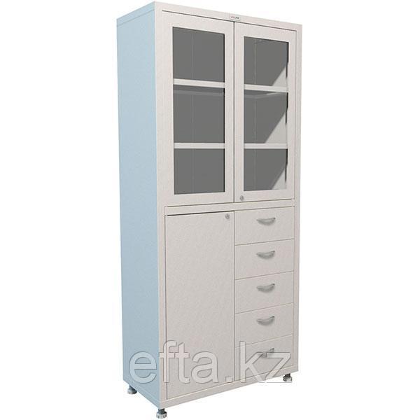 Медицинский шкаф для медикаментов с рамкой МД 2 1780 R-5 Размеры: 1810х800х400