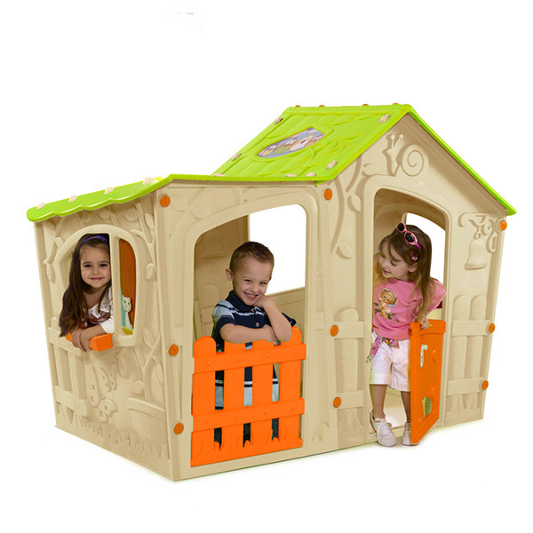Игровой домик KETER Волшебная вилла бежево-оранжевая