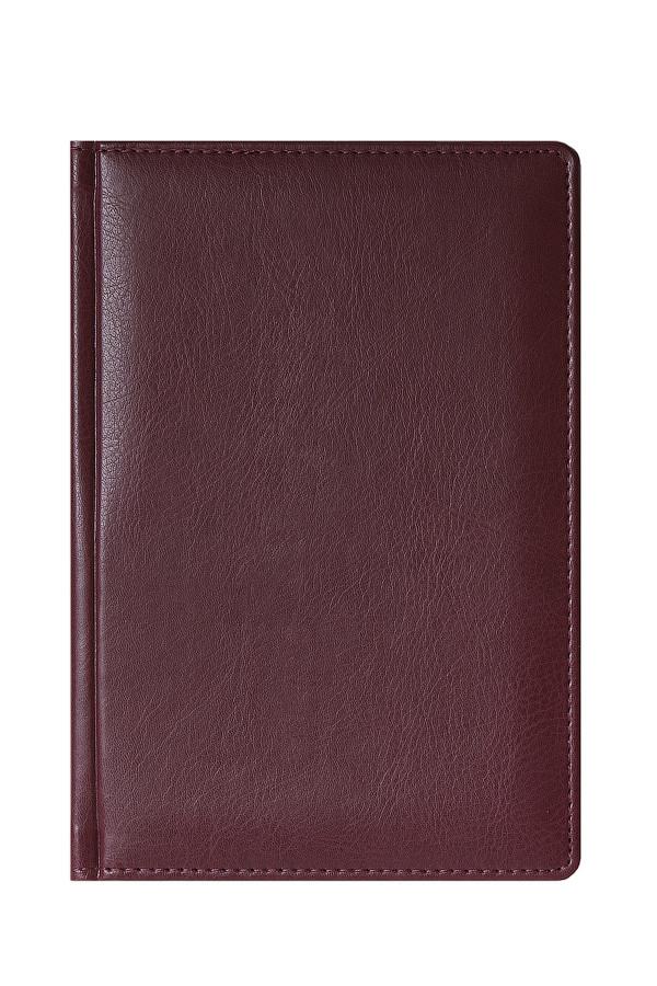 Ежедневник MEMORY A5, полудатированный, бордовый