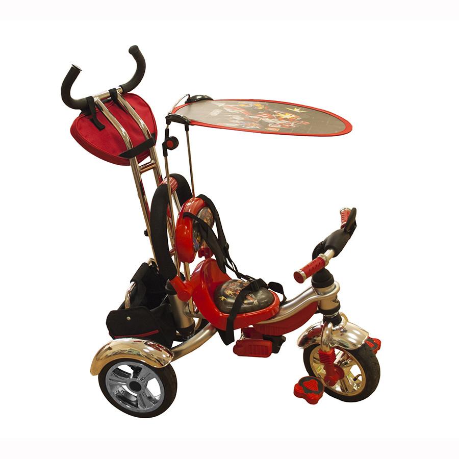 Велосипед трехколесный Mars Trike KR-01 H с рисунком Красный надувные колеса