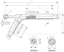 Зажимы натяжные клиновые НАП-500-3, НАП-640-1