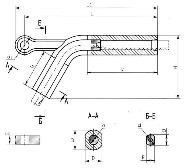 Зажимы натяжные НАС-700-1, НАС-1200-1А
