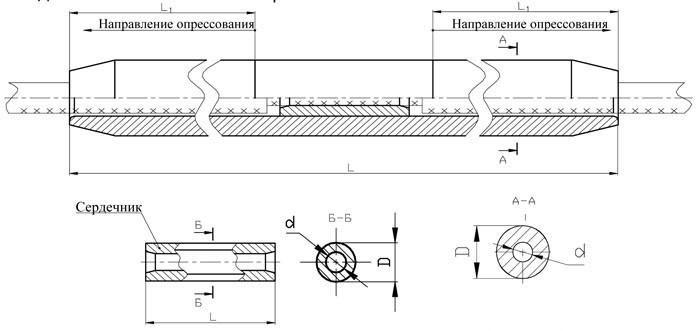 Зажим соединительный САС: САС-600-1