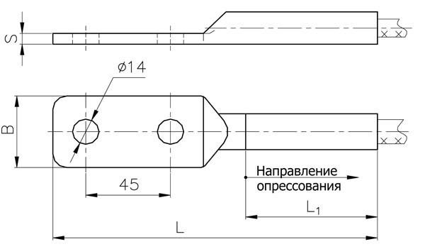 Аппаратные зажимы А2А-16Г-2, А2А-25Г-2, А2А-35Г-2, А2А-50Г-2, А2А-95Г-2, А2А-120Г-2, А2А-185Г-2, А2А-240Г-2
