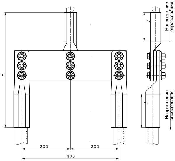 Зажим переходной петлевой: ППТ-1, ППТ-2, ППТ-3