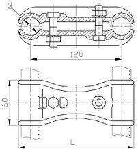 Распорки Р-3-120, Р-4-120