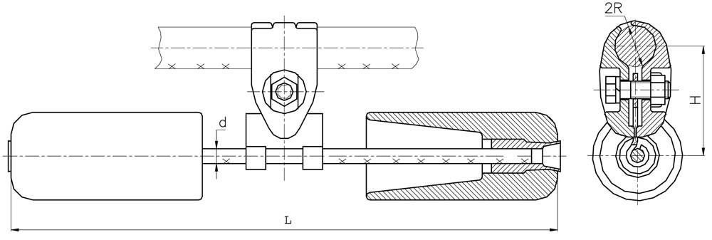 Гасители вибрации ГПГ-1,6-11-500/13, ГПГ-1,6-11-550/16, ГПГ-1,6-11-550/20, ГПГ-1,6-13-350/13, ГПГ-1,6-13-400/1