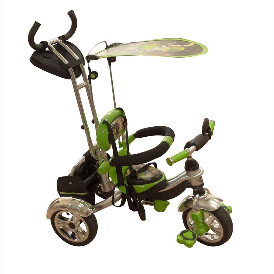 Велосипед трехколесный Mars Trike KR-01 H с рисунком Зеленый надувные колеса