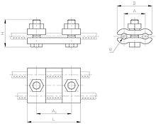 Зажимы плашечные и петлевые ПС-2-1