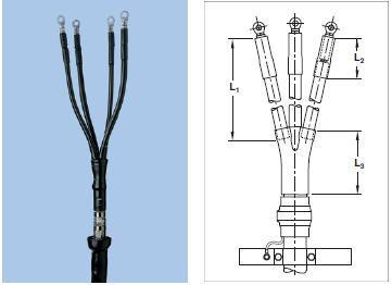 Муфта концевая GUST-01/3x70-120/750-L12  с наконечниками