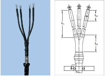 Муфта концевая GUST-01/4x70-150/1000-L12 с наконечниками