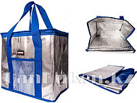 Сумка холодильник 34* 22*34 см (термосумка) синяя