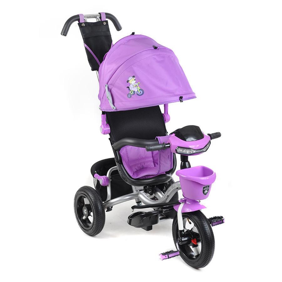 """Велосипед 3-х колесный Mars Mini Trike 960-2 12""""/10"""" Мишка лиловый"""