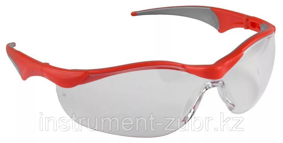 """Очки ЗУБР """"МАСТЕР"""" защитные, прозрачные, поликарбонатная монолинза с мягкими двухкомпонентными дужками                                                , фото 2"""