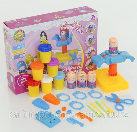 """Набор цветного теста для лепки """"Веселый парикмахер"""" Princess DIY"""