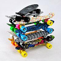 Скейтборд цветной светящиеся колеса