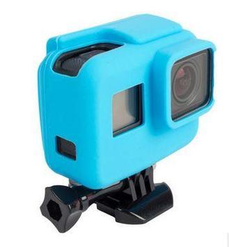 Чехол силиконовый синий GoPro Hero 5
