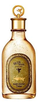 Омолаживающий тонер с черной икрой и частицами золота Skinfood Gold Caviar Toner,145мл