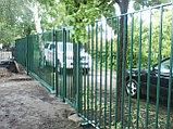 Забор металлический из вертикальных прутьев, фото 3