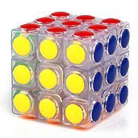 Кубик Рубика 3х3 прозрачный, черный YongJun Linggan