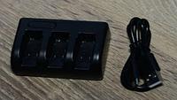 Зарядное устройство GoPro Hero 5 для одновременной зарядки 3 аккумуляторов