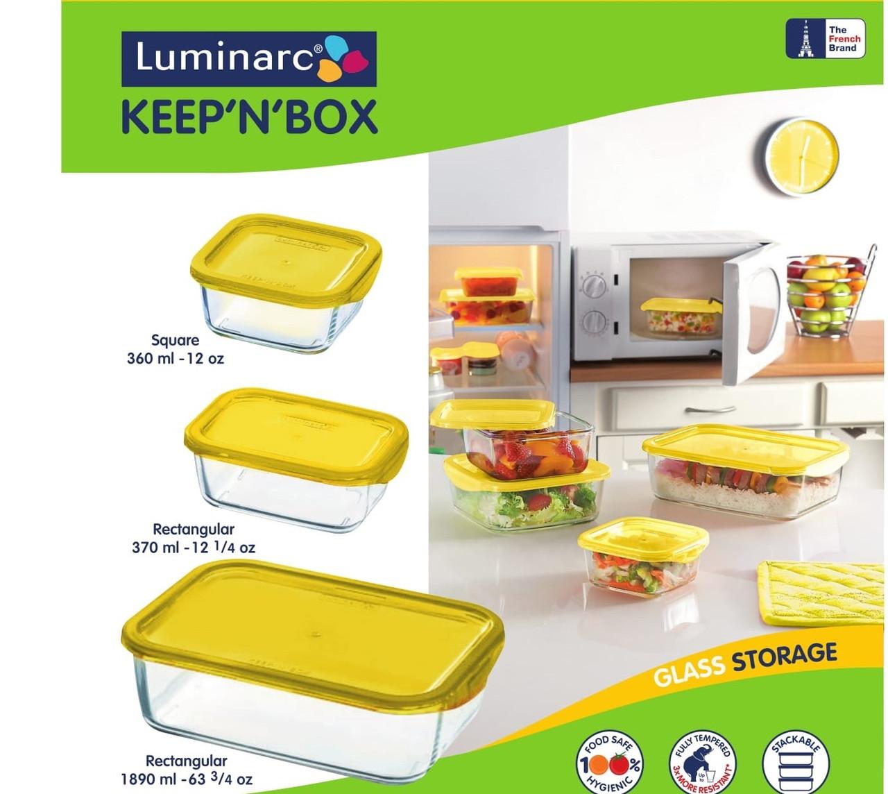 Набор контейнеров с крышкой Luminarc Keep'N'Box (3 шт)