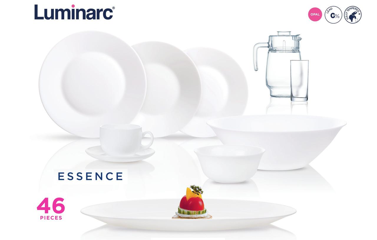 Столовый сервиз Luminarc Essence White 46 предметов