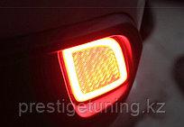 Задние LED вставки в бампер на Toyota Highlander 2014-17
