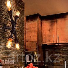 Настенная лампа Industrial Pipe Х- lamp wall M (№30), фото 3