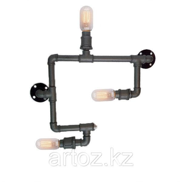 Настенная лампа Industrial steampunk pipe-3 (№32)