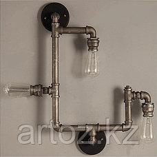 Настенная лампа Industrial steampunk pipe-3 (№32), фото 3