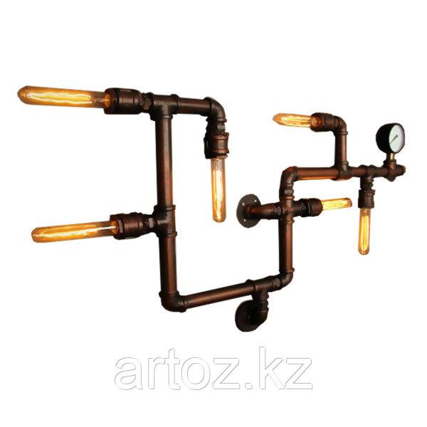 Настенная лампа Industrial steampunk pipe wall-5