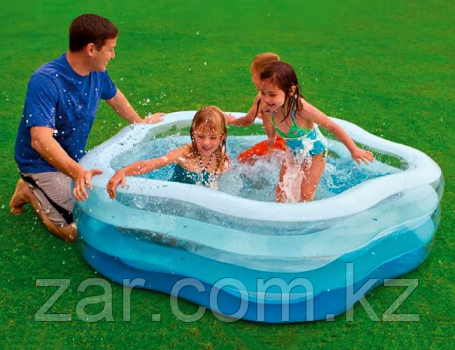 Надувной бассейн INTEX 56495 Краски Лета, надувное дно, 185х180х53 см, от 6 лет
