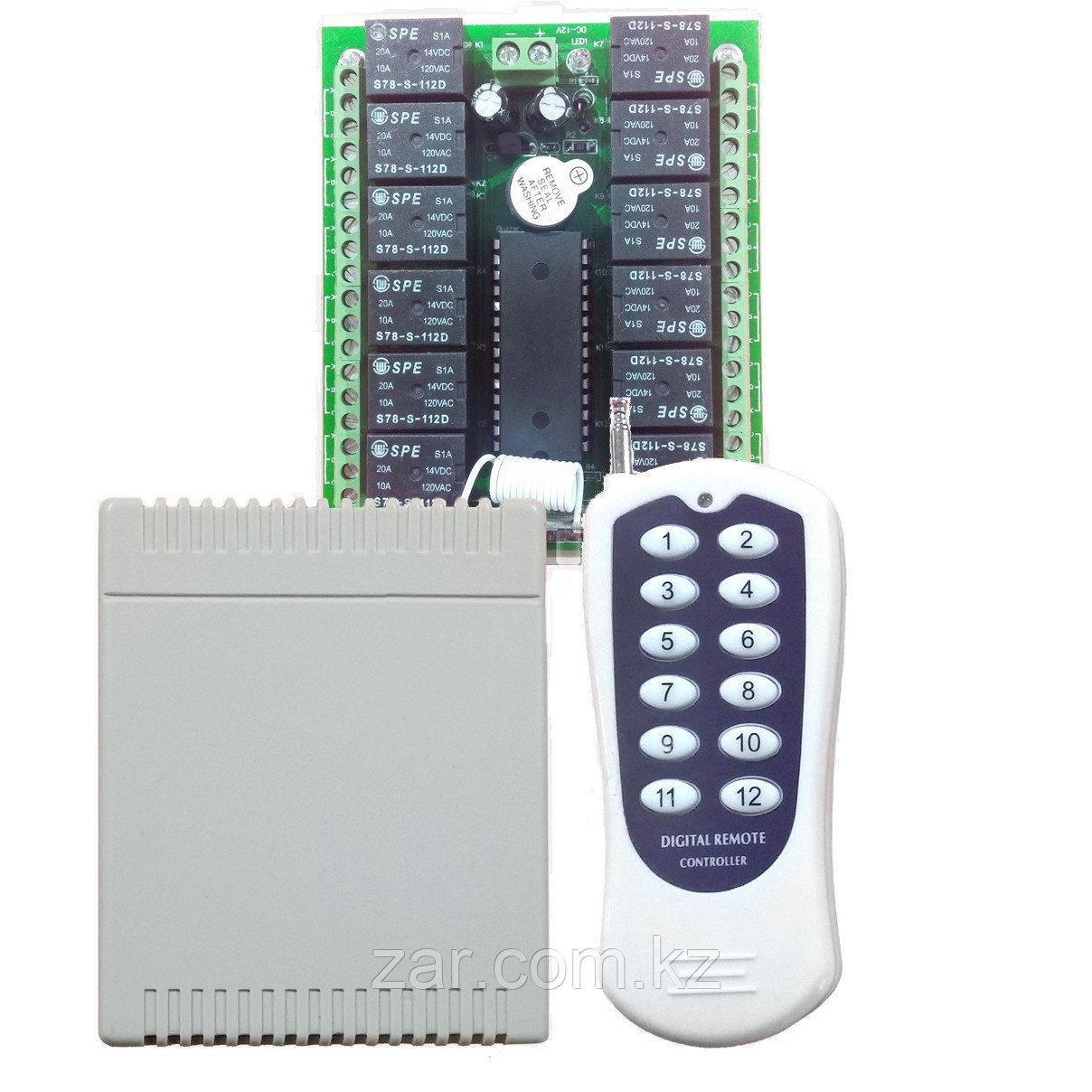 Плата удаленного контроля 12 каналов 100м, 433MHz
