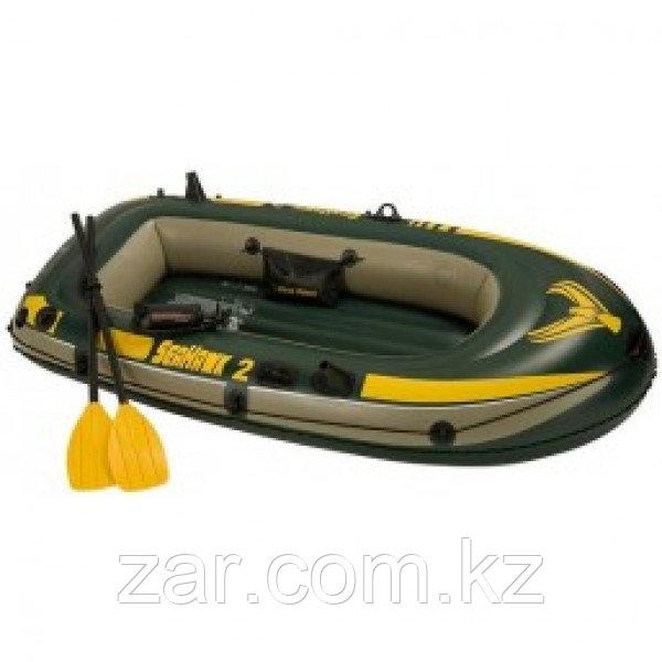 Лодка Seahawk 2 двухместная до 200 кг + 3 аксессуара Intex 68347 (236*114*41 см)
